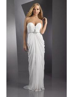 Etui-Linie Herzausschnitt Abendkleid Weiß