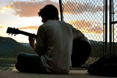 Stewart watched the sunrise as he strummed his guitar...
