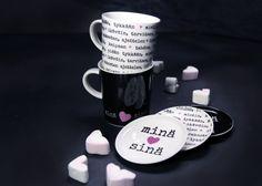Martinex - Lahjatavara Valentines day Gift Ideas, Mugs, Tableware, Kitchen, Gifts, Dinnerware, Cooking, Presents, Tumblers