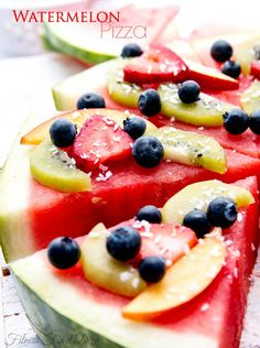 Watermelon Pizza on MyRecipeMagic.com