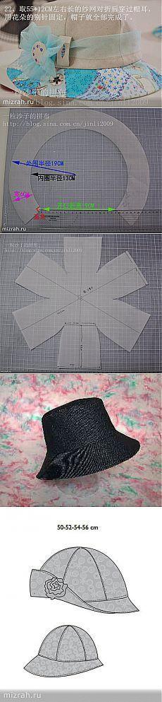 Los sombreros con los patrones.