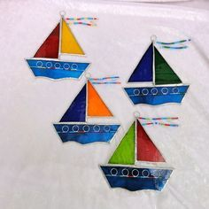fused glass whale and sailboats - Google Search