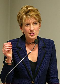 Carly Fiorina - Born in Austin, Texas. She served as CEO of Hewlett-Packard from 1999 to 2005 and previously was an executive at AT and its equipment and technology spinoff, Lucent. She currently serves on the boards of several organizations. Fiorina was considered one of the most powerful women in business during her tenure at Lucent and Hewlett-Packard.
