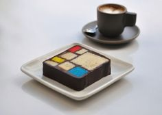 Mondrian cake, beautiful and yummy.