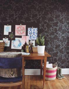 Garden (Noir) in designer Karla Pruitt's studio