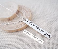 20% OFF Signature Bar Necklace  Actual Handwriting by AshleeArtis