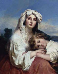 """Italian Woman with Child"" - 1836- Franz Xaver Winterhalter (german painter)"