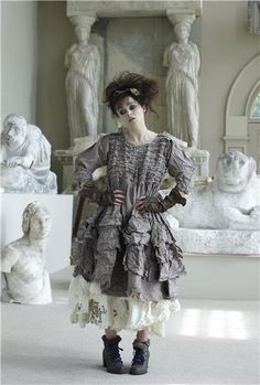 Helena Bonham Carter wearing Ewa I Walla - some day she will wear something I made - even if I have to sneak up behind her and throw a dress over her head!