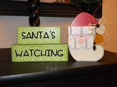 Santa's Watching by 4colorfulseasons on Etsy, $13.99