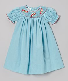 Look at this Turquoise Peppermints Bishop Dress - Infant, Toddler & Girls on #zulily today!