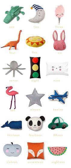 Modern Throw Pillows for Kids   Thrifty Littles Blog