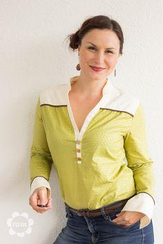 lillesol & pelle Schnittmuster / pattern: Blusenshirt / Bouse