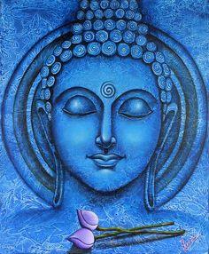 buddha oil paintings on canvas - Google Search Estar totalmente inmerso en el misterio de la vida y la creación es Samadhi. ~ Sri Sri