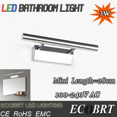 Find More Industrial Lighting Information about ECOBRT Guaranteed 100% High Quality Mini 3W LED Mirror Front Wall Lights AC85~265V Modern Brief Bathroom LED Wall Lamp,High Quality lamp e40,China lamp style Suppliers, Cheap lamp amazon from Shenzhen ECOBRT Trade Co., Ltd on Aliexpress.com
