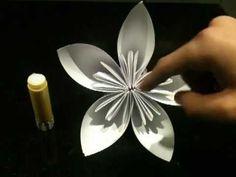 Faire une fleur en origami - Fleur en papier - Astuce pliage en origami - Jolie fleur - YouTube