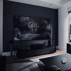 Interior Design Living Room, Living Room Designs, Living Room Decor, Men's Living Rooms, Apartment Living, Manly Living Room, Men Apartment, Black Interior Design, Cozy Living