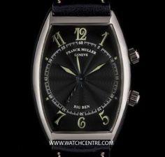 FRANCK MULLER 18K W/G BLACK GUILLOCHE DIAL BIG BEN ALARM B&P 5850 AL  http://www.watchcentre.com/product/franck-muller-18k-w-g-black-guilloche-dial-big-ben-alarm-bp-5850-al/4588
