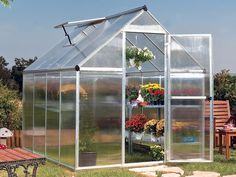 Mythos Silverline Greenhouse, 6' wide x 8' long - Hobby Greenhouse Kits