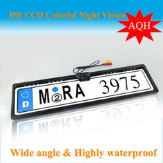 compare prices free shipping new universal night vision european license plate frame car #european #license #plates