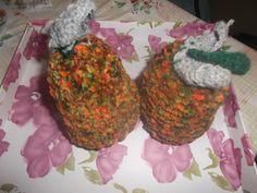 frutas en crochet ananas