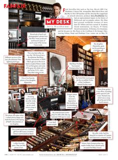 Jerry Bruckheimer's Desk - Net Worth: $850 million - Producer