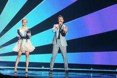 """Bilder vom Finale: Litauen - Monika Linkyté & Vaidas Baumila mit """"This Time"""" (KURIER/Franz Gruber) Mehr Bilder vom #ESC Finale finden Sie auf http://kurier.at/songcontest."""