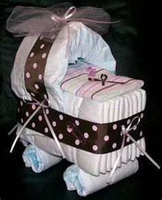Diaper Baby Carriage (Shower Decoration)