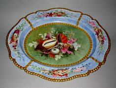 FLIGHT BARR & BARR WORCESTER. Rare & large Porcelain Platter. EARL FITZWILLIAM COLLECTION, WENTWORTH WOODHOUSE.c.1825.