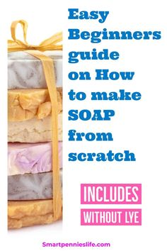 How to make Soap (Includes Without Lye ) – SmartpenniesLife Easy guide for beginners on how to DIY your own soap at home. Find out how to make soap with or without lye and includes information on essential oils and making soap. Diy Soap No Lye, Lye Soap, Soap Making Recipes, Homemade Soap Recipes, Diy Soap Natural, Home Made Soap, Beauty Soap, Diy Beauty, Beauty Guide