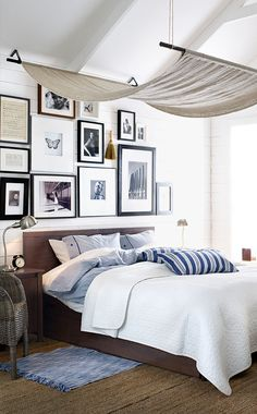 bedroom gallery - bedroom decorating ideas. love the shiplap walls