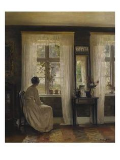Giclee Print: A Lady in an Interior Art Print by Carl Holsoe by Carl Holsoe : Victorian Art, Art For Art Sake, Art Graphique, Interior Paint, Beautiful Paintings, Oeuvre D'art, Female Art, Painting & Drawing, Art History