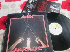 NWOBHM Heavy Matal UK Raven – All For One Neat Records NEAT 1011 Inner Lyric Sleeve UK Vinyl LP Album