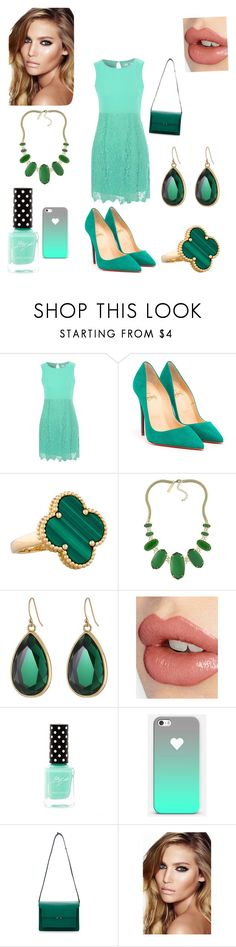 """Aqua (made by my cousin Vanessa)"" by gymnastonbars ❤ liked on Polyvore featuring True Decadence, Christian Louboutin, Van Cleef & Arpels, Kendra Scott, Kate Spade, Charlotte Tilbury and Marni"