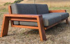 Wooden Sofa Designs, Chair Design Wooden, Wood Table Design, Wooden Sofa Set, Wood Sofa, Outdoor Couch, Outdoor Lounge, New Furniture, Furniture Design