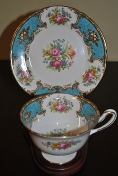 SHELLEY Tea Cup and Saucer Trio. Oh I love this so much!!!