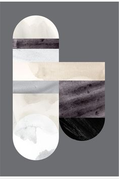 Print poster geometric shapes in marble-like textures, beige, gray and black on gray. By Lene Nørgaard on Stilleben http://www.stillebenshop.com/Product/Index/1800?lang=uk