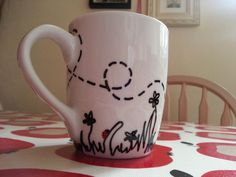 Decorated mug. & Doodle Decorated Mugs   Doodles Decorating and Sharpies