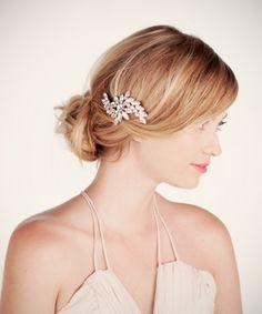 Perfect for my hair piece Ban.do - Crystal Swirl Bobbi Pin Bride Makeup, Wedding Hair And Makeup, Wedding Beauty, Hair Makeup, Dream Wedding, Wedding Wows, July Wedding, Wedding Things, Wedding Bells