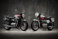 New and old Triumph Bonnevilles