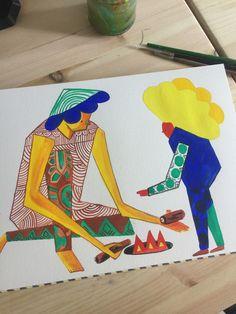 #wip #gouache #lolretaisac  #paintingonpapaer #illustration Freelance Illustrator, Book Illustration, Gouache, Packaging Design, Kids Rugs, Animation, Artist, Kid Friendly Rugs, Artists