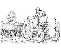 Tractor Coloring Pages for kids These tractor coloring pages