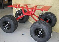 Swing Arm Kit Rolling Chassis With Welding Trailer, Welding Trucks, Welding Cart, Metal Projects, Welding Projects, Power Wheels Jeep, Kids Wagon, Beach Wagon, Go Kart Plans