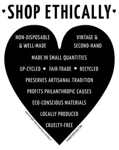 Sarah Bowater: A Guide to Shopping Ethically. A really useful guide to make sure that the clothes we buy are ethically sourced and sustainable for the future.