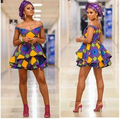 Shenbolen Women African Ankara Batik Print Traditional Clothing Casual Party Dress - Ankara Xclusive: The Most Attractive and Popular African Print Dresses 2018 Source by - Modern African Print Dresses, Short African Dresses, Latest African Fashion Dresses, African Print Fashion, Africa Fashion, Ankara Fashion, Latest Dress Styles, African Dress Styles, African Attire