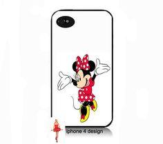 Disney Minnie Mouse I phone 4 case, Iphone case, Iphone 4s case, Iphone 4 cover, i phone case, i phone 4s case