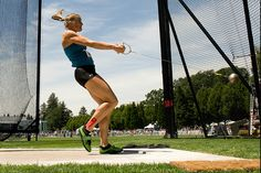 KT Tape Pro USA edition during the Hammer throw trials at the 2012 Track and Field Trials in Eugene, OR.