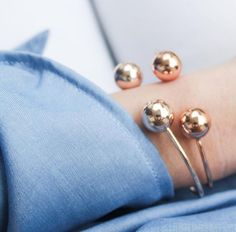 Double Ballin Bangles in Gold and Rose Gold   #minimalistjewelry #minimalist #minimalistaccessories #bangles #bracelets #rings #minimalistjewellery #necklace #earrings #jewellery #jewelry #jewelleries #jewelries #accessories #rosegold