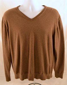 St. John's Bay Men's Size XXL Cotton Cashmere Long Sleeve Light V Neck Sweater #StJohnsBay #VNeck
