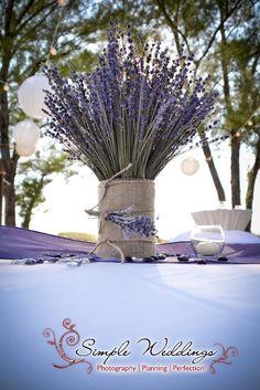 Lavender centerpieces designed by Desiree