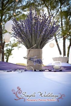Lavender centerpieces designed by Desiree